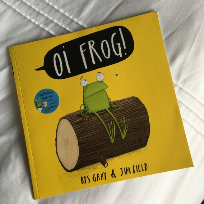 Great books for three year olds by Harrogate Mama, Oi Frog