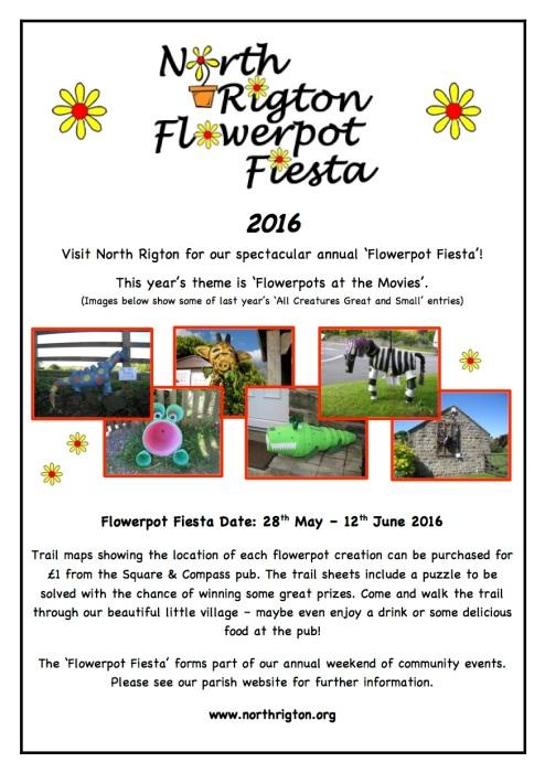 Flowerpot Fiesta Poster 20161